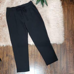 SUNCOO Pants - Suncoo Black Jill Fluid Carrot Trousers